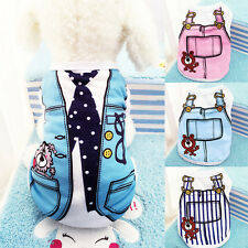 Small Dog Cat Vest Shirts Puppy T-Shirt Coat Pet Clothes Summer Apparel Costumes