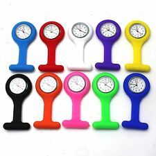 Hot Cute 10 Colors Silicone Nurse Watch Brooch Fob pocket Tunic Movement Watch
