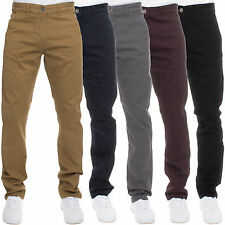 Mens Designer Trousers Chinos Stretch Skinny Slim Fit Jeans All Waist Sizes