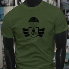 AIRBORNE PARACHUTE MILITARY ARMY SPECIAL FORCES Mens Military Green T-Shirt