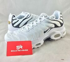 New NIKE AIR MAX PLUS TN White Black Shoes 852630-100 95 90 c1