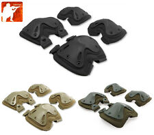 Tactical Quick Release TPU Elbow & Knee Pads Set Airsoft Transformer XTAK