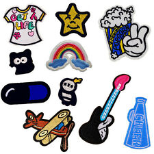 15PCS Embroidered Cartoon Animal Patches Appliques Iron / Sew On Patch
