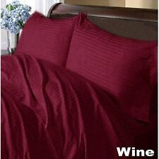 New Home Bedding Collection 1000TC 100%Egyptian Cotton Wine Color US King Size