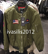 Pull&Bear MAN PATCHES BOMBER JACKET S-XL ( ZARA GROUP ) Ref. 5714/515