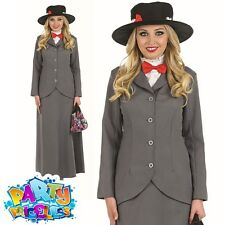 Adult Victorian Nanny Mary Costume Ladies Fancy Dress Book Week Outfit