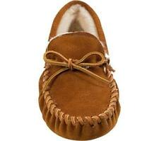 Mens Minnetonka Traditional Pile Lined Softsole Moccasin Slipper 7-13 ~Leather