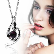 Lucky Angel Fashion Soft Crystal Women Personality Pendant Necklace Chain EG