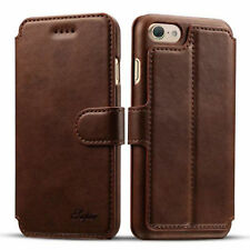 Brown Luxury Flip Stand Wallet Card Leather Case Cover For Apple iPhone 7 Plus