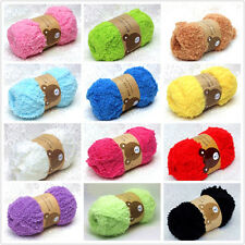 Super Soft Smooth Color Chunky Double Knitting Wool Yarn Baby Skein Ball 50g
