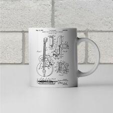 Gibson Guitar Magnetic Pickup Patent Art Mug Gift Player Guitarist Teacher Band