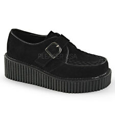 Demonia Creepers 118 Unisex Goth Punk Rockabilly Creeper Black Suede Shoes