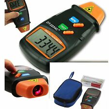 #Handheld LCD Digital Laser Photo Tachometer Non Contact RPM Tach Tester Meter#W