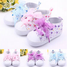 Baby Shoes Girls Cotton Floral Infant Soft Sole First Walker Toddler Shoe NG