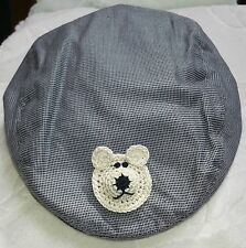 NEW GREY CHECK NEWSBOY GOLF CAP HAT 6 12 18 24 MONTHS BOYS BABY INFANT TODDLER