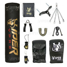 3ft 4ft 5ft Boxing Punch Bag Heavy Duty Filled Mma Training Kick Ceiling Hook