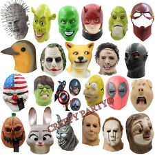Latex Mask Mix Horse Head Creepy Animal Halloween Costume Theater Prop Party