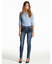 NWT GENETIC Bardot Denim Mid-Rise Faded Blue Skinny Jeans 25 26 27 29 30 $233