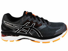 NEW MENS ASICS GT-2000 V4 GEL RUNNING SHOES TRAINERS CARBON / BLACK / HO 2E WIDE