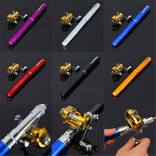 Portable Pocket Pen Telescopic Shape Aluminum Alloy Fishing Rod Reel Line Combos