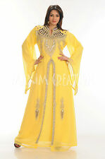 DUBAI VERY FANCY KAFTANS abaya jalabiya Ladies Maxi Dress New Wedding gown 3391