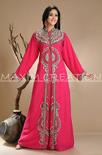 DUBAI VERY FANCY KAFTANS abaya jalabiya Ladies Maxi Dress New Wedding gown 3809