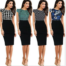 Women Sexy Elegant Business Work Office Pencil Dress Slim Party Cocktail Dresses
