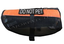 ORANGE SERVICE DOG MESH VEST TRAINING HARNESS REFLECTIVE REMOVABLE VELCRO® PATCH