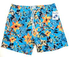 Trunks Surf & Swim Co. Blue Floral San O Swim Trunks Water Shorts Mens NWT