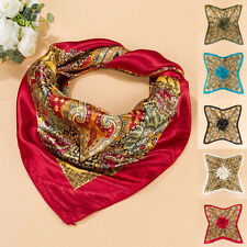 35'' x35'' Scarf Luxury Wrap Bandana Square Large Headband Kerchief Women Satin