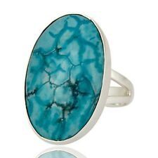 Natural Turquoise Gemstone Jewelry 925 Sterling Silver Ring