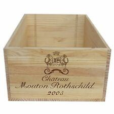 2005 Chateau Mouton Rothschild Wooden Wine Crate without Lid