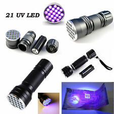 UV Ultra Violet 9/21/51 LED Flashlight Mini Blacklight Aluminum Torch Light Lamp