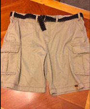 New Mens Size 50,44,48 Shorts Foundry BIG n TALL Belted Cargo Beige Rose JCSP30
