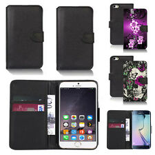 black faux leather wallet case for many mobiles design ref z436