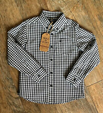 Boys Smart Black White Check Shirt by Soul & Glory