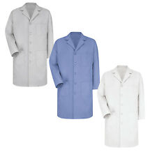 Red Kap Men's Light Blue White Gray Five Button Front Lab Coats KP14 Irregular