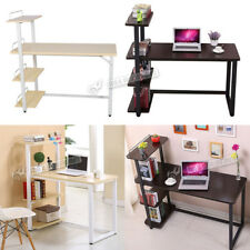 Home Office Desk Corner Computer PC Table Workstation with Bookcase Shelf UK New