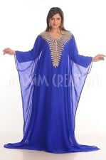 NEW DUBAI FARASHA ABAYA KAFTAN ISLAMIC ARABIAN THOBE MAXI DRESS FOR WOMEN 4819