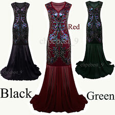 Great Gatsby Prom Gown 1920s Flapper Dress Long Bridesmaid Evening Party Dresses