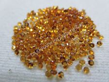1MM TO 14MM 100% NATURAL CITRINE FACETED CUT ROUND AAA COLOR LOOSE GEMSTONE