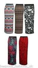 Women's Aztec, Animal Leopard Ladies Elasticated Waist Long Length Maxi Skirt