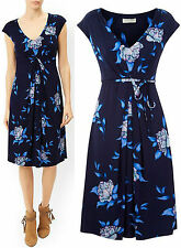 New Monsoon size 8 - 18 Navy Blue Floral Rhona Fit & Flare Party Print Dress