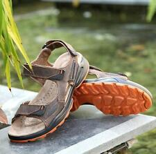 Mens summer Fisherman antiskid comfort leather leisure outing Sport sandals