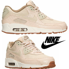 NWB Wom's Nike Air Max 90 Premium Leather Running Sneakers Athletic Gym Sport