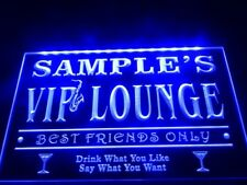 VIP Lounge Neon Sign Bar Beer Name Personalized Custom On/Off hanging sign BLUE