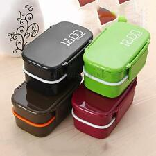 Japanese Dinner Double Layers Lunch Box Tableware Bento Food Container PICK