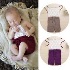 Baby Girl Boy Romper Newborn Crochet Knit Costume Photo Photography Prop Outfit
