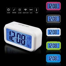 !Led Digital Electronic Alarm Clock Backlight Time With Calendar+Thermometer !W