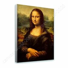 Alonline Art - READY TO HANG CANVAS Mona Lisa Leonardo Da Vinci Framed Art